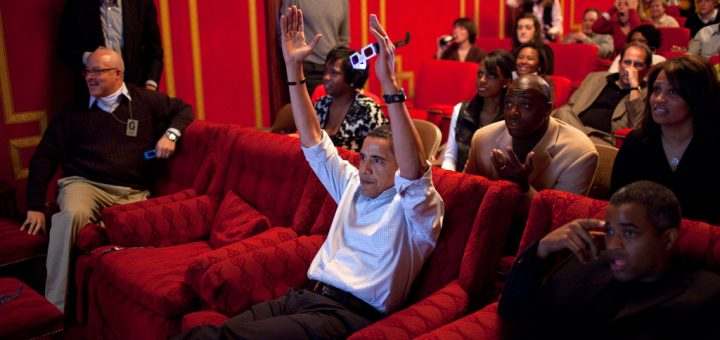 President-Barack-Obama-celebrated-touchdown-while-watching-2009