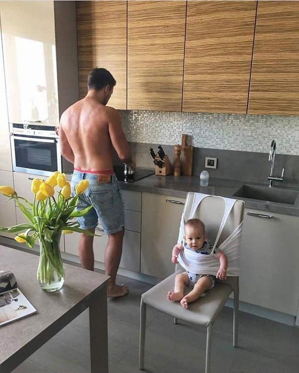 მხიარული მამების სახალისო გამოგონებები ცელქი პატარებისთვის