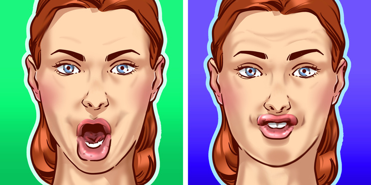 ლოყების გასახდომი 8 ვარჯიში: ლამაზი და თხელი სახე გარანტირებულია