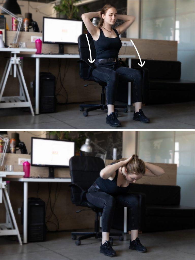 7 სავარჯიშო სწორი მუცლისთვის, რომელსაც ოფისში, სკამიდან ადგომის გარეშე შეასრულებთ