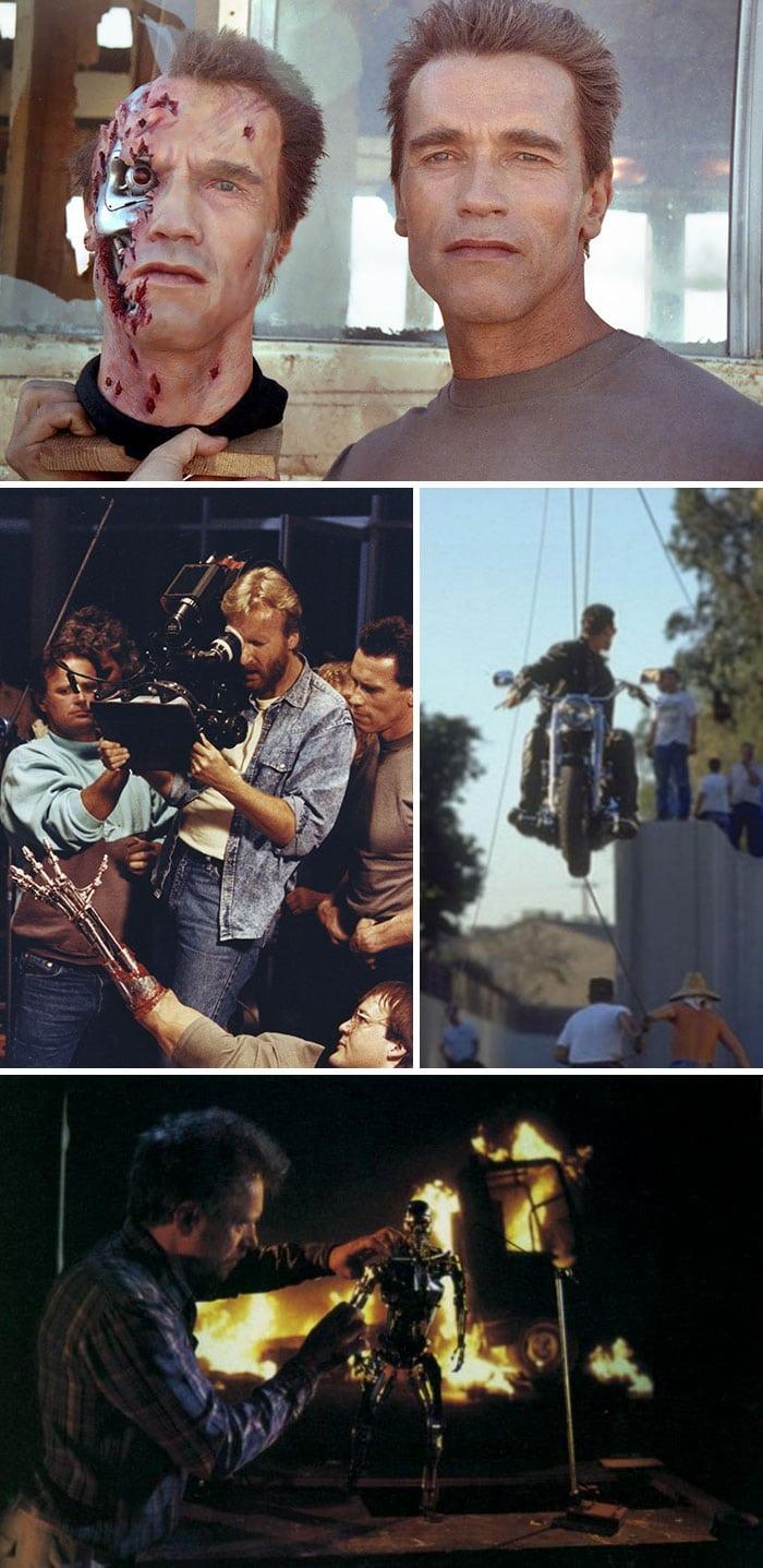 30 ფოტო იმის შესახებ თუ რა ხდებოდა კადრს მიღმა საკულტო ჰოლივუდის ფილმების გადაღებებზე