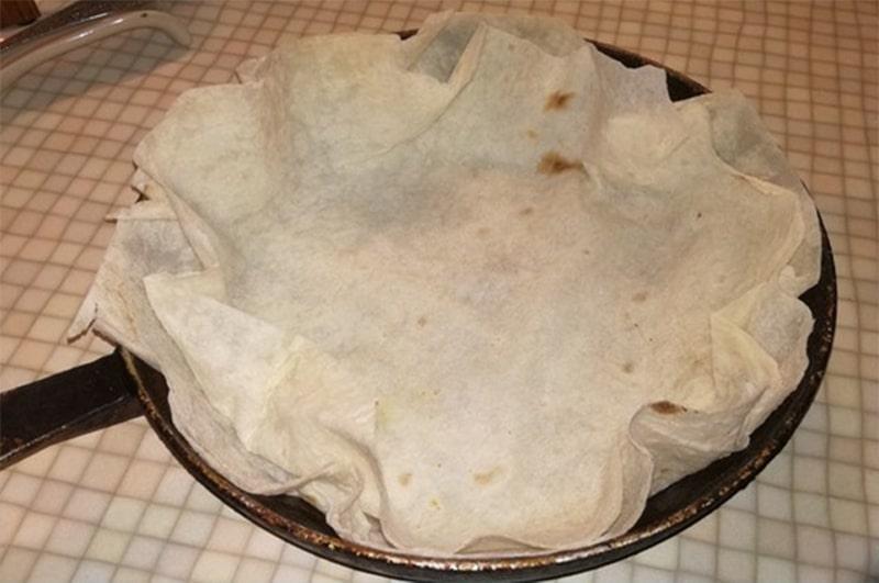 ერბოკვერცხის მომზადება ლავაშში