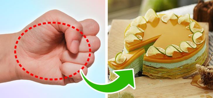 თქვენი ხელი გაგიმხელთ საკვების რა რაოდენობაა საკმარისი თქვენთვის, რათა არ გადააჭარბოთ